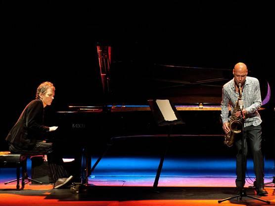 Brad Mehldau (links) und Joshua Redman spielten am 2. November 2016 im Jazznojazz-Festival in Zürich.