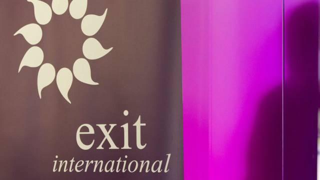Das Logo von Exit International (Symbolbild)
