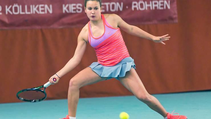 Die 17-jährige Walliserin Ylena In-Albon ist derzeit auf der internationalen Juniorentour enorm erfolgreich.