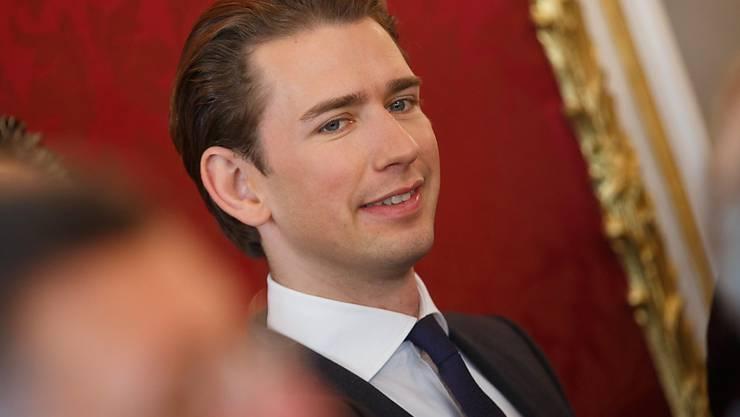 Soll am Freitag mit der Bildung der neuen österreichischen Regierung beauftragt werden: Der 31-jährige Wahlsieger und Aussenminister Sebastian Kurz der konservativen ÖVP. (Archivbild)