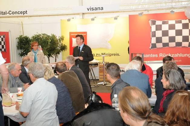 Carlo Mettauer, Aaraus Vizeammann sprach zu den Besuchern