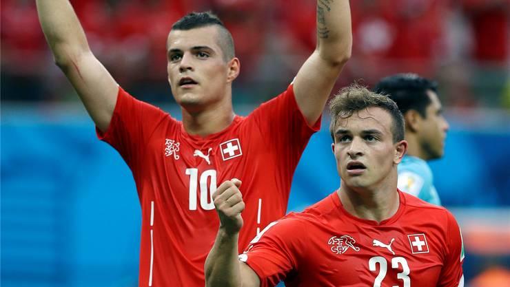Jubeln Granit Xhaka (links) und Xherdan Shaqiri weiter für die Schweiz oder bald für den Kosovo?keystone