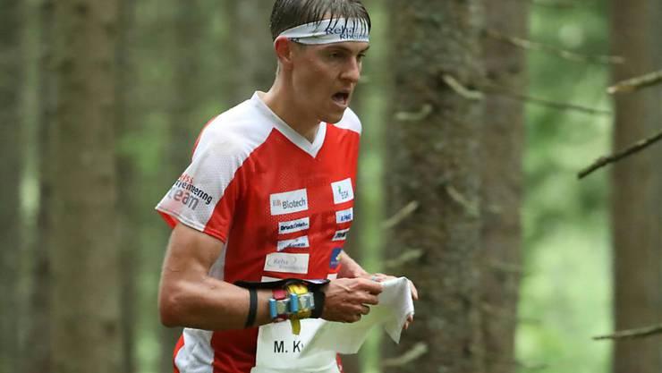 Matthias Kyburz realisierte am Heim-Weltcup in Laufen bereits den 44. Weltcup-Podestplatz seiner Karriere