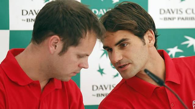 Serverin Lüthi strebt mit Roger Federer den Wiederaufstieg an.