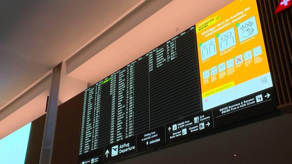 Schweiz stellt Flugverkehr mit Grossbritannien und Südafrika ein