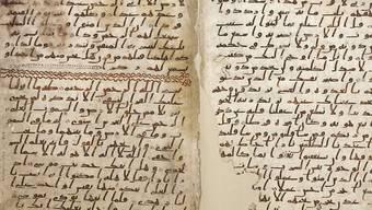 Dieses Koran-Manuskript von der Universität Birmingham soll aus der Anfangszeit des Islam stammen.