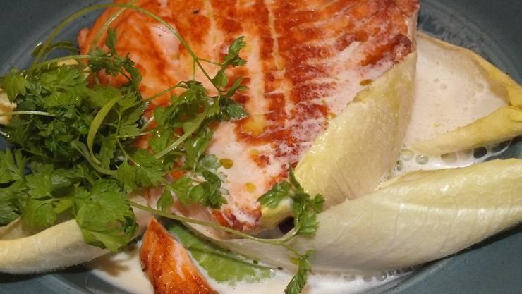 Heilbutt an Koriander: Die Fusion-Küche gibt es auch in Norwegen. Bild: Herbert Huber