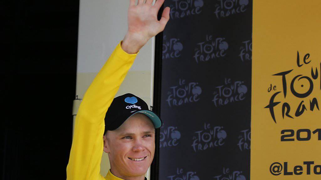 Wird zum dritten Mal nach 2013 und 2015 die Tour de France gewinnen: der Brite Chris Froome