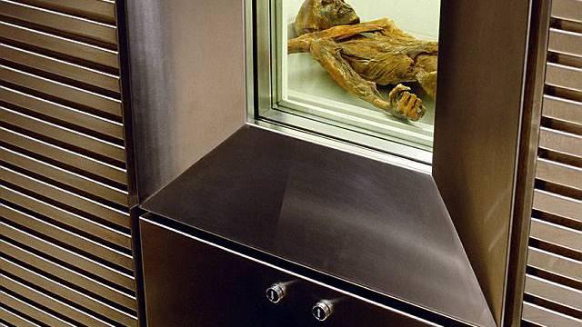 War beim Abtauen des Similaungletschers freigelegt worden: Mumie Ötzi (Archiv)