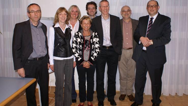 Der Vorstand mit Kurt Boner, Brigitte Hasler, Simone Wingeier (Sekretariat), Cécile Boillat, Walter Pretelli, René Schicktanz, Peter B. Stalder und Präsident Urs Hufschmid. jjz