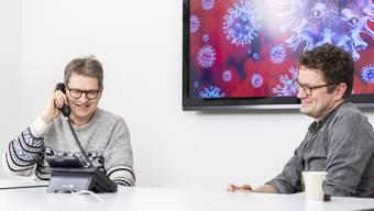Christoph Fux (links) und Benedikt Wiggli beantworten die Fragen der AZ-Leser.