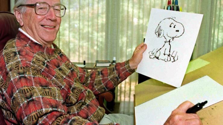 """Der verstorbene """"Peantus""""-Comic-Erfinder Charles M. Schulz. (Archivbild)"""