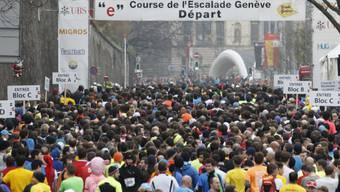 """Mit über 42'000 eingeschriebenen Läuferinnen und Läufern ist der Genfer Stadtlauf """"Course de l'Escalade"""" vom Wochenende der grösste Volkslauf der Schweiz."""