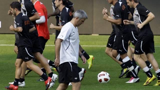 YB-Trainer Vladimir Petkovic (im Vordergrund)