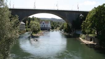 Nebst anderen beliefert das Wasserkraftwerk Aue Baden die Region mit Strom.