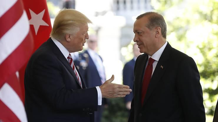 US-Präsident Donald Trump mit dem türkischen Staatschef Recep Tayyip Erdogan. (Archivbild)