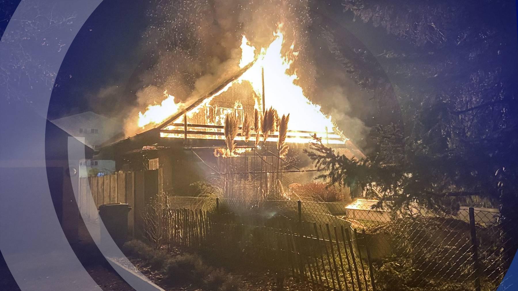 Viermal brannte es in der Nacht auf heute im Aargau, eine Familie verlor alles