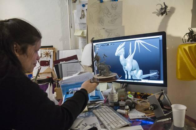 Zu Beginn designte Barbara Brosowski ein 3D-Modell am Computer.