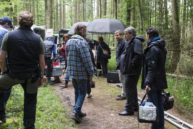 Ein Teil des Filmteams für die vierte Staffel der SRF-Krimiserie