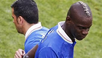 Antonio di Natale (links) ersetzt gegen Irland Mario Balotelli