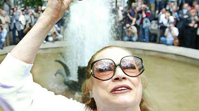 Die Schauspielerin Anita Ekberg
