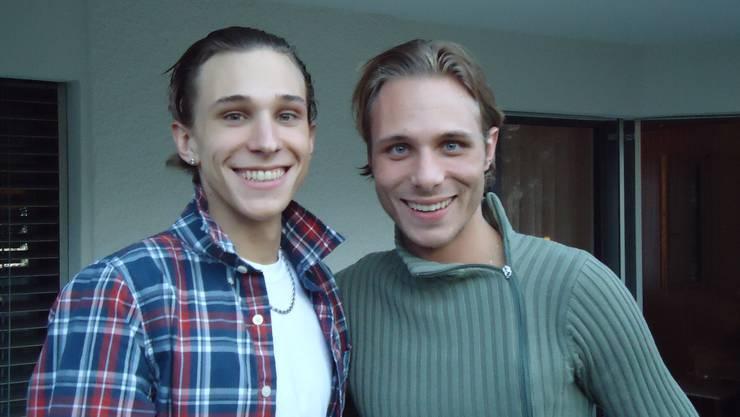 Ronny Lnenicka (rechts) mit seinem Bruder.