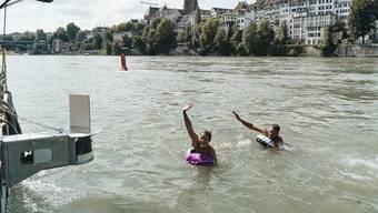 Rheinkamera / Selfie-Kamera auf dem Rhein
