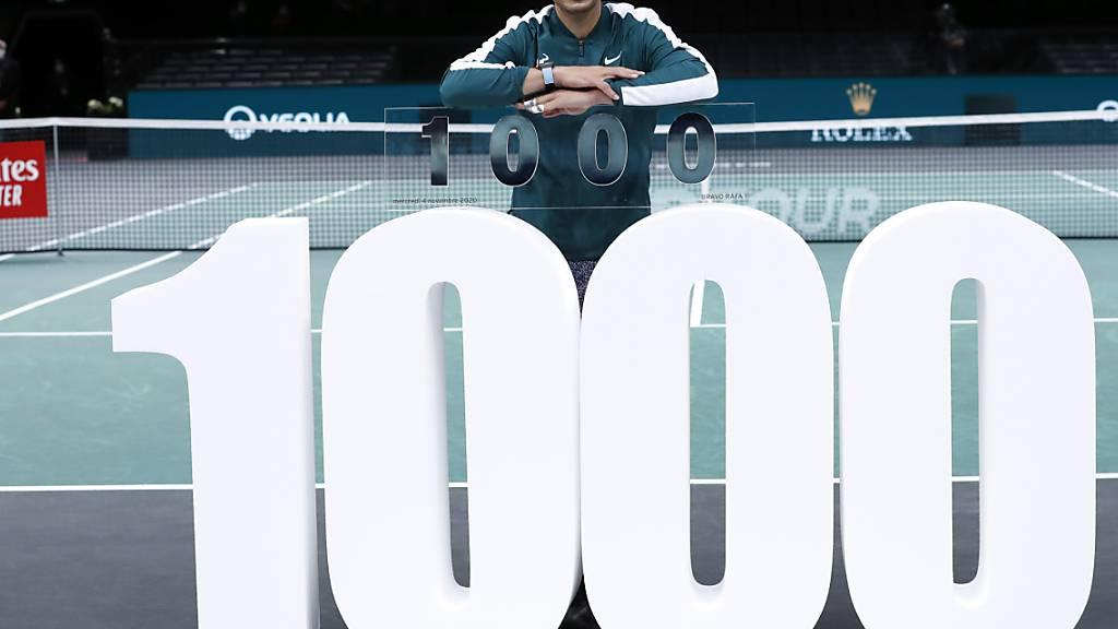 Als vierter Spieler im 1000er-Klub: Rafael Nadal