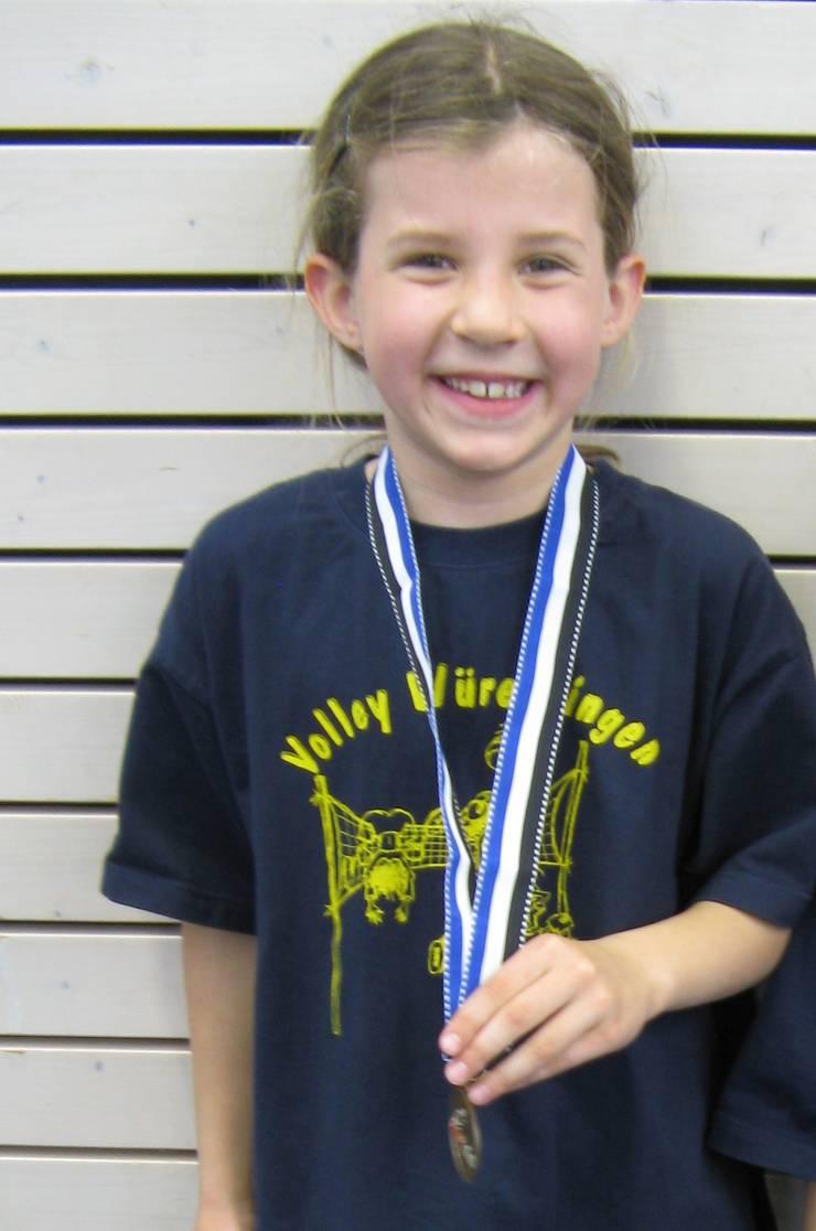 Eichlers erste Medaille mit sieben Jahren.