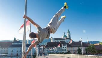 Die Parkour-Gruppe Solothurn rund um Philipp Wälti hebt ab – im wörtlichen Sinne.