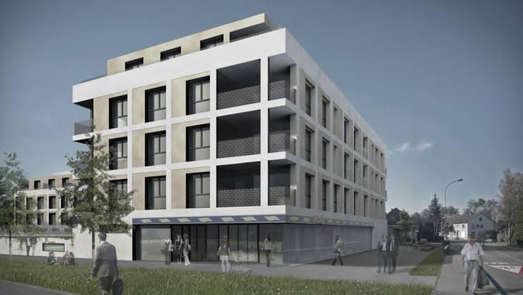 Im ersten Geschoss des Hauptgebäudes auf Baufeld waren ursprünglich Räume für die Gemeindeverwaltung geplant.