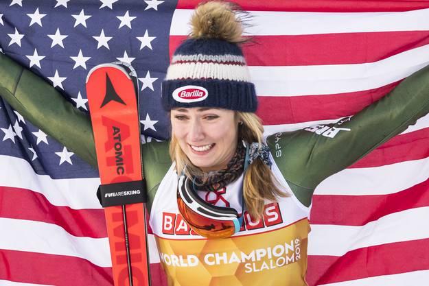 Nicht nur in den technischen Disziplinen die Beste: Mikaela Shiffrin wird sich die Weltcup-Titel im Super-G und Riesenslalom nicht mehr nehmen lassen.