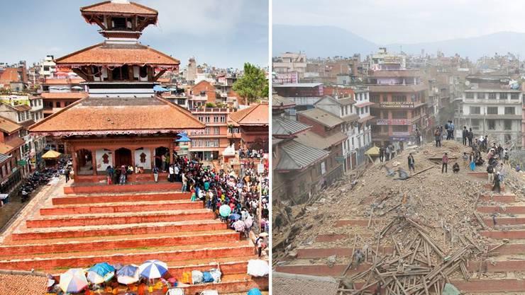 Nepal vor und nach dem Beben