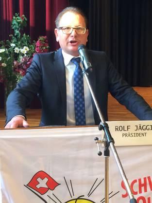 Bezirksparteipräsident und Grossrat Rolf Jäggi