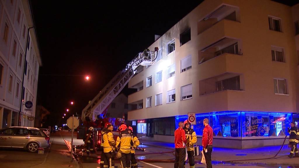 Weinfelden (TG): Brand in Mehrfamilienhaus