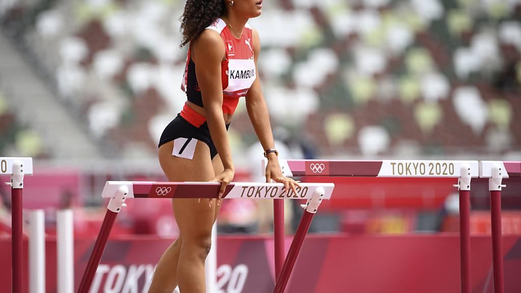 Alles aufsaugen vom Olympia-Debüt: Hürdensprinterin Ditaji Kambundji kommt in Tokio über 100 m Hürden nicht über den Vorlauf hinaus