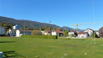 Areal im Zentrum von Lengnau, wo die Mehrzweckhalle seit Jahren geplant ist.