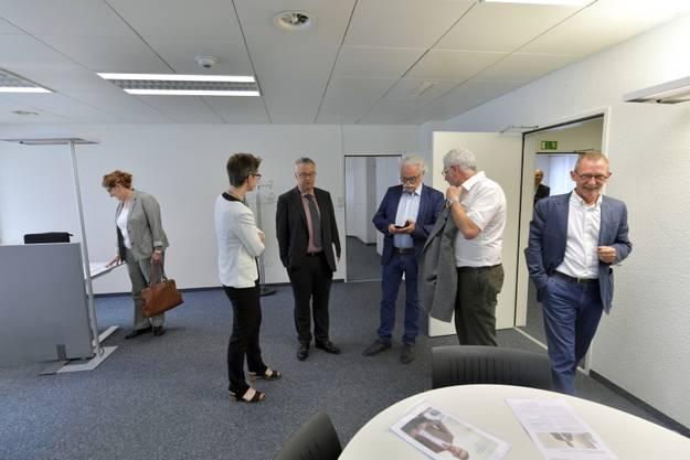 Karin Heimann, Felix Kunz, Erwin Fischer, Ivo Erard und Heinz Westreicher bei der Besichtigung