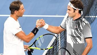 Roger Federer und Rafael Nadal im Final der Australian Open 2017