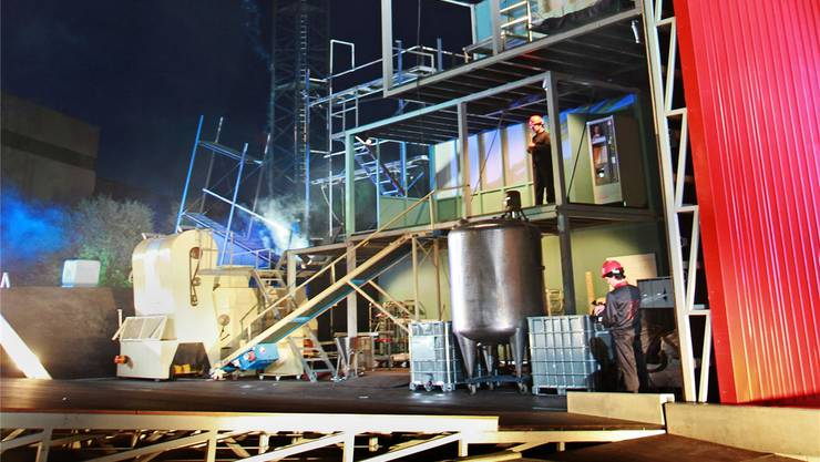 «Fabrikk»-Spektakel (Aufnahme von der Show in Winterthur).