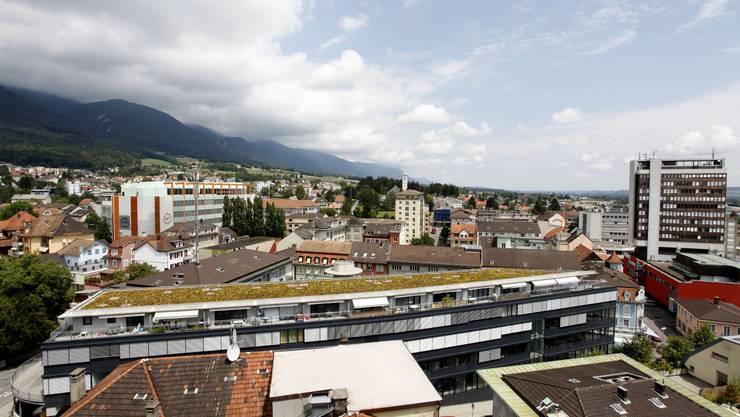 Blick auf die Stadt Grenchen