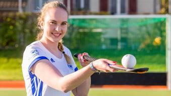 Die 21-jährige Winznauerin Nora Wintenberger spielt seit sechs Jahren im Fanionteam des HC Olten und will in dieser Saison ihren ersten Meistertitel gewinnen. FBA