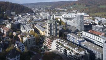 Trotz starker Industrie (im Bild Baden) und prosperierenden KMU bezieht der Aargau dieses Jahr massiv mehr Finanzausgleich.