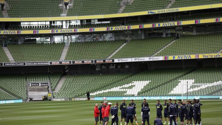 Unter Druck: Die Schweiz sollte im Aviva-Stadion von Dublin lieber nicht verlieren