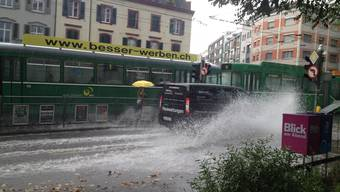 Unwetter in Basel