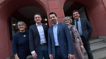 Das ist der neue Liestaler Stadtrat (v. l.): Regula Nebiker, Lukas Felix, Daniel Spinnler, Marie-Theres Beeler und Daniel Muri.