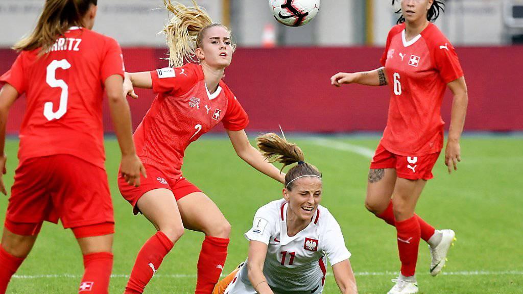 Mit einem 0:0 gegen Polen verpassten die Schweizerinnen die direkte Qualifikation für die WM 2019 in Frankreich