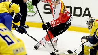 Nino Niederreiter erzielte gegen Schweden seine ersten Nati-Tore.