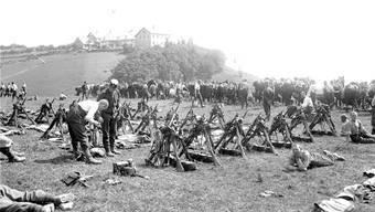 Infanterie auf dem Weissenstein. Bilder: zvg