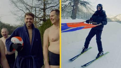 Winterschwimmen und Skikjöring